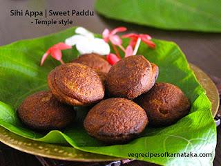 Sihi appa or paddu recipe in Kannada