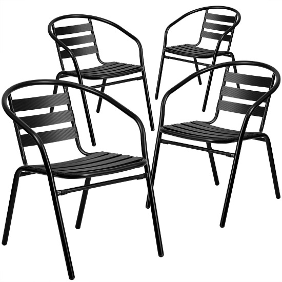 Black outdoor chairs from walmart