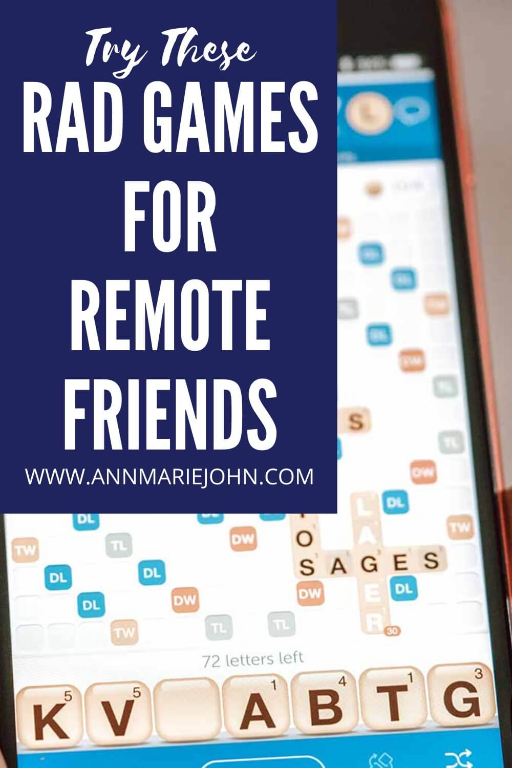 Rad Games for Remote Friends Pinterest Image