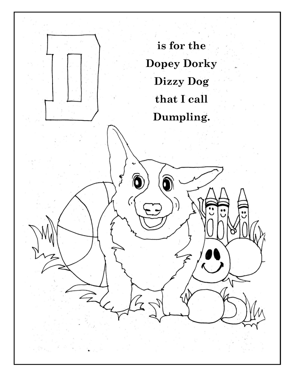 judygruppSTUDIO: AMY\'S ABC Coloring Book - Letter D