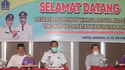 Cegah Penularan HIV/AIDS, KPA Bone Gelar Pelatihan Warga Peduli Aids