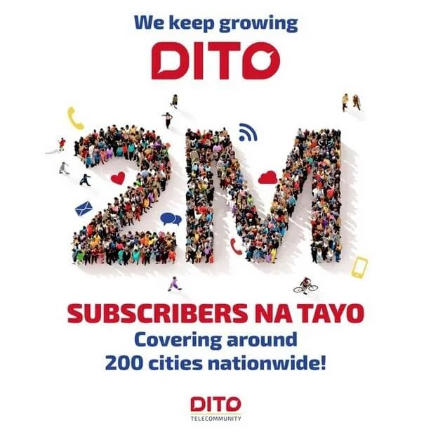 DITO Hits 2M Subscribers, Expands More Coverage