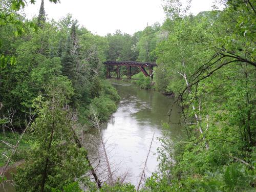 Great Lakes Railroad trestle