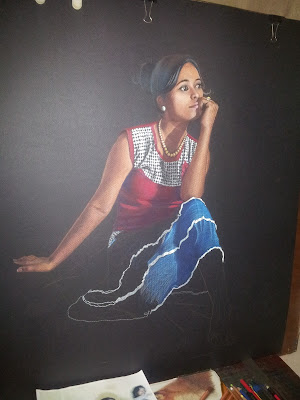 colour pencil work by bmanikarts - waiting for you