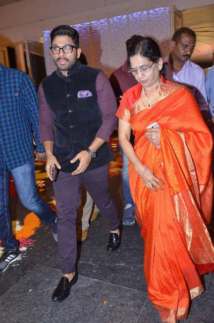 allu arjun at shyam prasad reddy daughter wedding