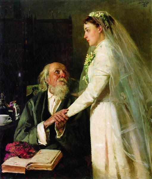 Маковский Владимир Егорович - К венцу (Прощание). 1894