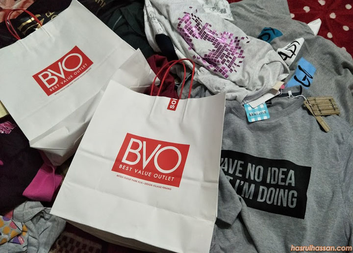 Shopping Baju Raya Awal di Best Value Outlet (BVO) Design Village, Penang