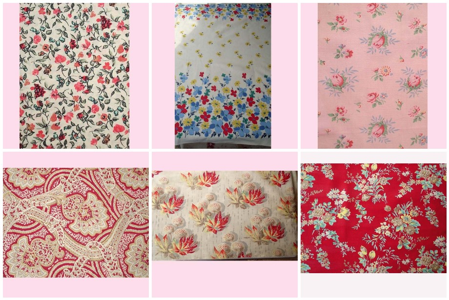 rag rescue: pretty vintage french and english vintage fabric
