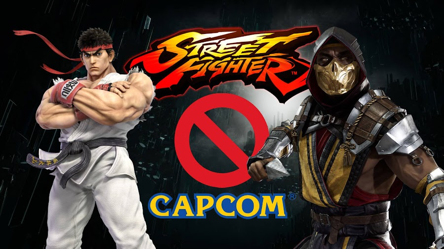 street fighter cameo rejected mortal kombat capcom fighting game scorpion mk ryu sf