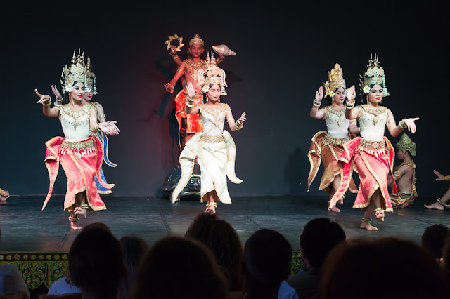Apsara Dance performed by the Cambodian Living Arts Company in Phnom Penh Cambodia