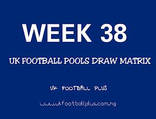 This week football pools draw matrix