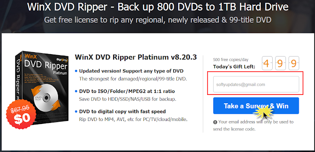 Giveaway: WinX DVD Ripper Platinum for FREE