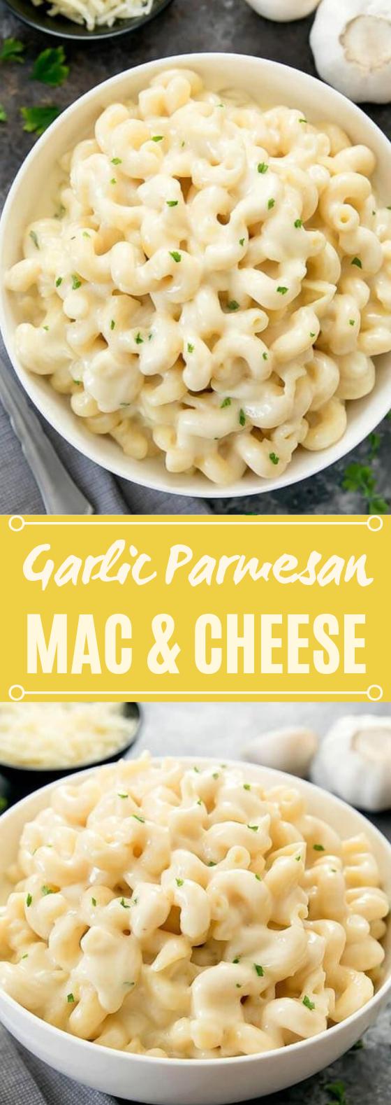 Garlic Parmesan Macaroni and Cheese #dinner #pasta