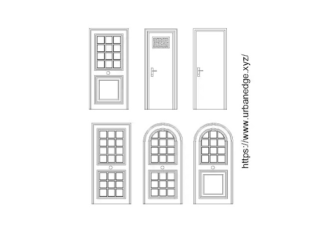 Wooden doors elevation cad blocks download, 5+ Door cad blocks