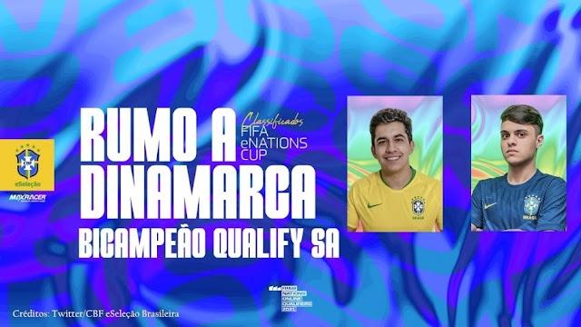 Campeões com a eSeleção, Paulo Neto e Gabriel PN comemoram classificação para o Mundial