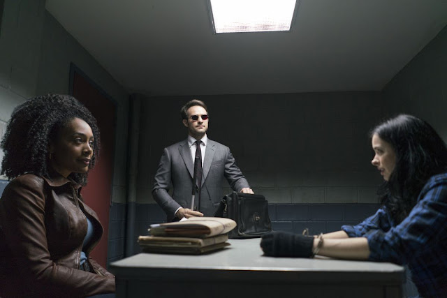Jessica Jones, Misty Knight y Matt Murdock en The Defenders