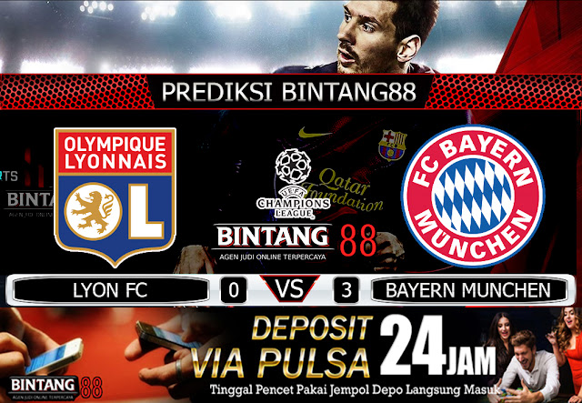 PREDIKSI LYON FC VS BAYERN MUNICH 20 AGUSTUS 2020