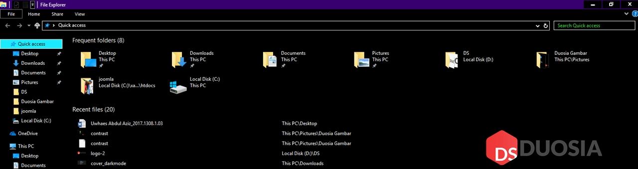 File Explorer Dark Mode