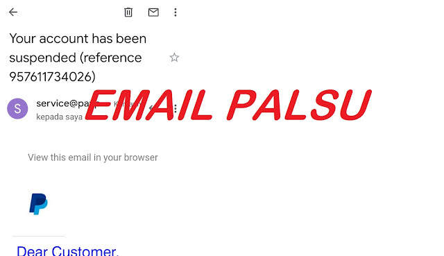 Awas service@paypal.com Email Palsu Jangan di Klik