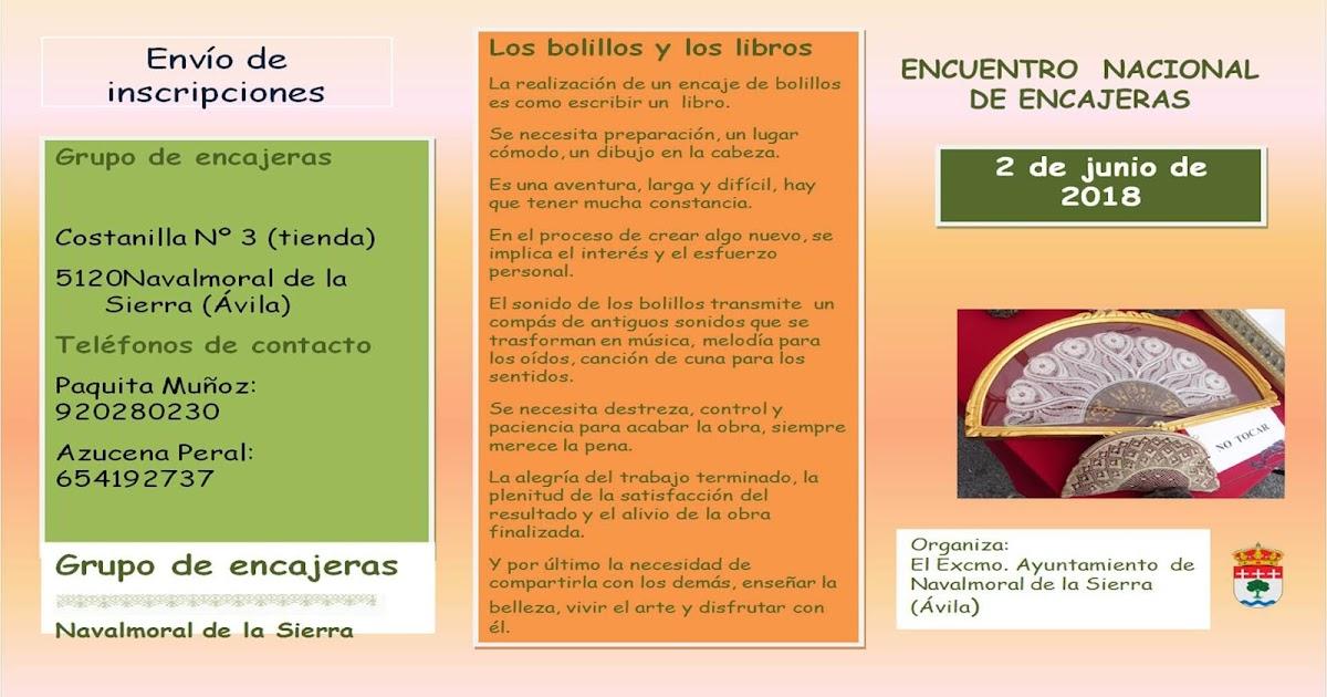 Encajeras de bolillos de benalm dena 2 encuentro - Navalmoral de la sierra ...