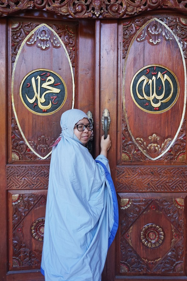 mukena siti khadijah TPO Grey In Blue