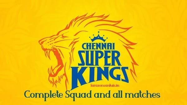 Chennai Super Kings Team 2020 & all matches in Dream 11 IPL 2020