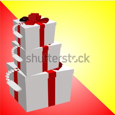 draw illustration box gift