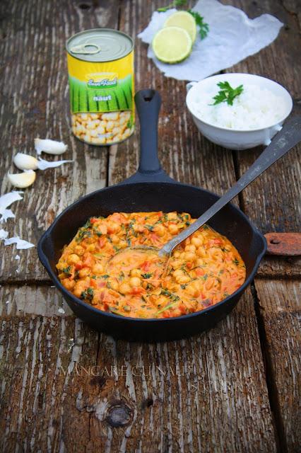 Mancare rapida cu naut Sun Food si curry