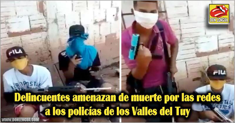 Delincuentes amenazan de muerte por las redes a los policías de los Valles del Tuy