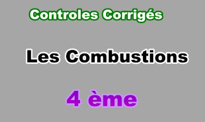 Controles Corrigés Sur Les Combustions 4eme en PDF