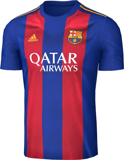 6079dc4a1b7 Inspired by the current Barcelona home jersey by Nike, which is blue with  two broad red stripes on front and back, our Adidas Barcelona concept shirt  is ...