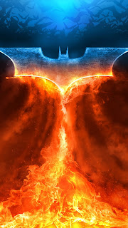 Batman Fire Rise Logo Mobile HD Wallpaper