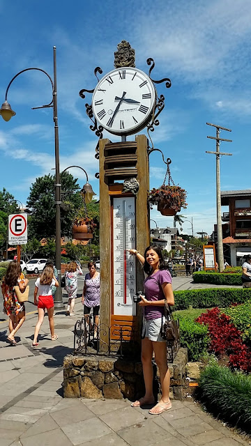 Relógio - temperatura - Gramado - RS