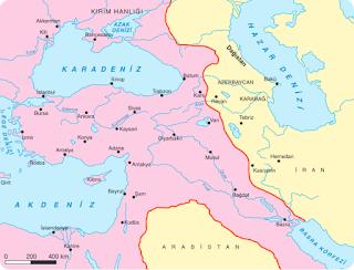 Kasr-ı Şirin Anlaşmasına Göre Osmanlı - Safevi Sınırı