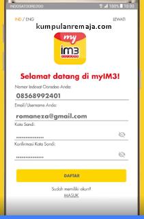 Cara Daftar Aplikasi MyIM3