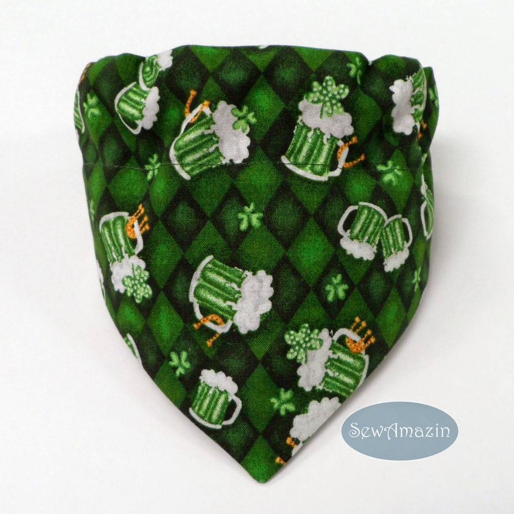 St Patricks Day Pet Bandanas and Scrunchie Neck Ruffles