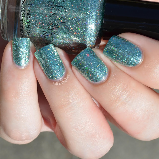 mint nail polish swatch