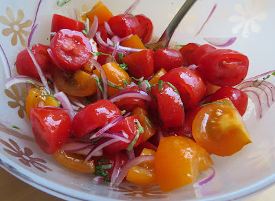 Tomato, Basil & Red Onion Salad