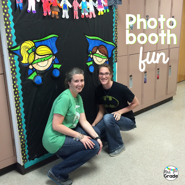 I love having a photo booth wall up all year long that is easy to adjust for the season and activity we are doing