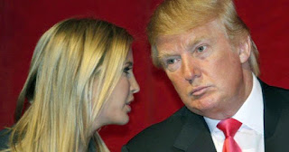 Ivanka Trump with her dad, President Donald Trump