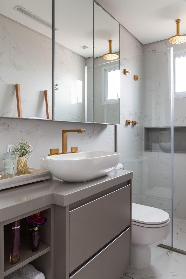 Ideias para ganhar espa o no banheiro pequeno jeito de for Armario lavabo barato
