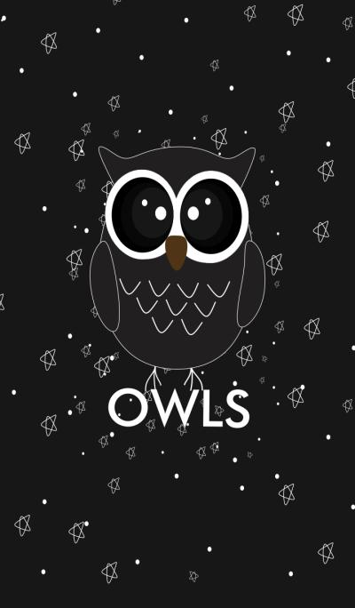 Simple Black Owls v.2