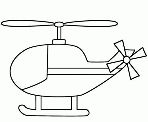 Tranh tô màu máy bay trực thăng cho bé