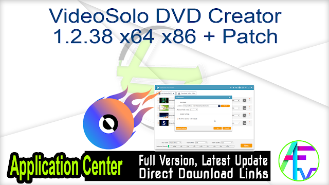 VideoSolo DVD Creator 1.2.38 x64 x86 + Patch