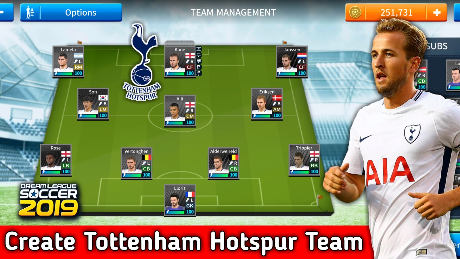 the best attitude e3669 9c815 How To Create Tottenham Hotspur Team In Dream League Soccer 2019