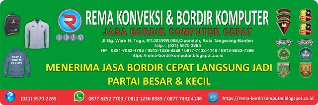 Jasa Bordir Komputer - Bordir nama dan logo - Bordir Partai Besar dan Satuan Murah | 0877 7432 4146