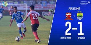 Madura United Taklukkan Persib Bandung 2-1