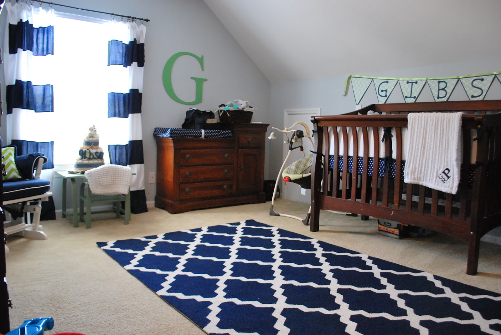 Baby Boy Navy White Gray Nursery Reveal