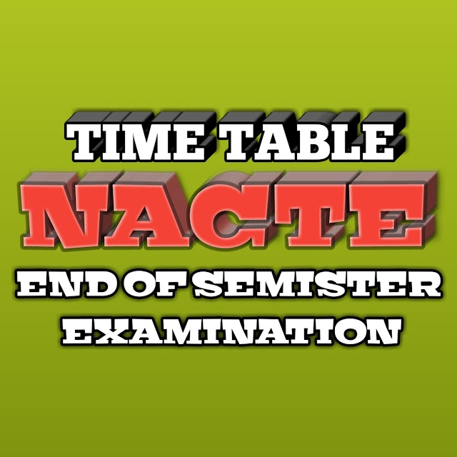 TIME TABLE NACTE END OF SEMISTER II EXAMINATION (PDF FILE) DOWNLOAD