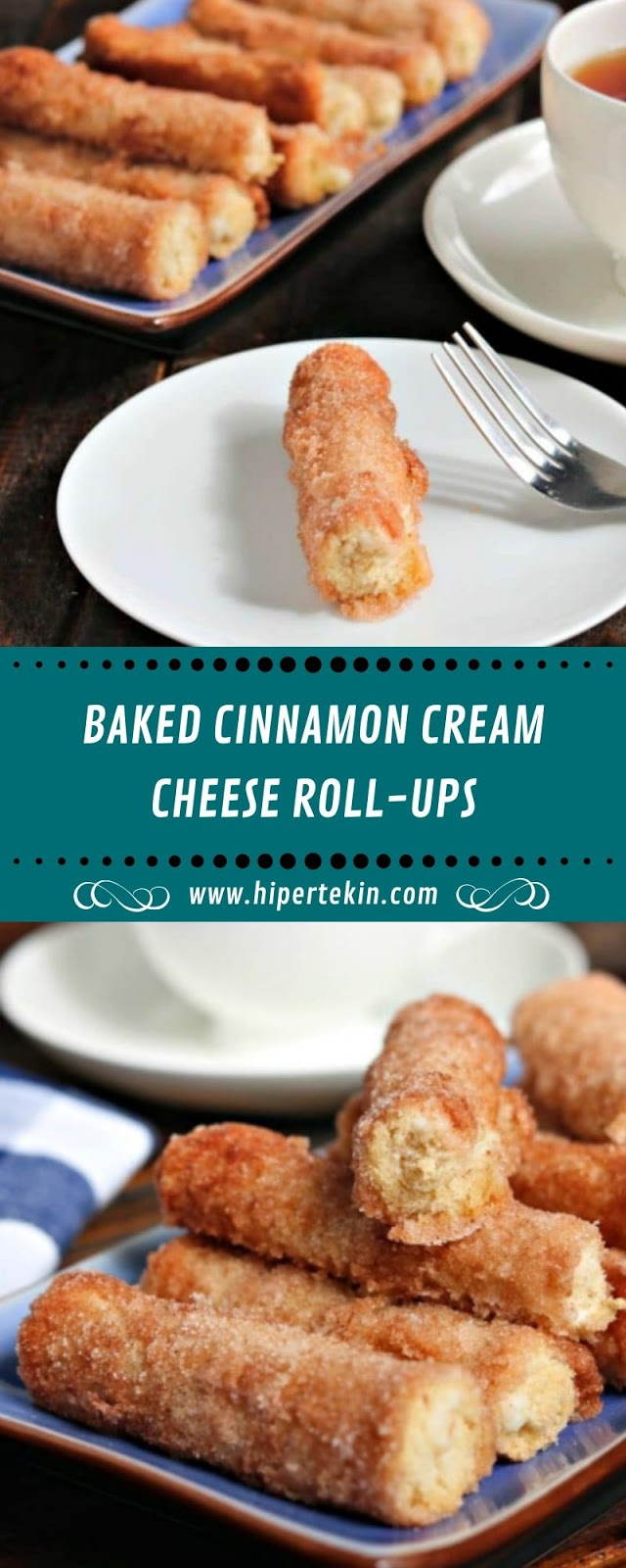 BAKED CINNAMON CREAM CHEESE ROLL-UPS